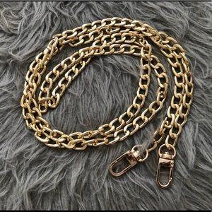 "Generic Gold Color 47"" Crossbody Bag Chain"